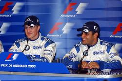 Press conference: pole winner Ralf Schumacher with Juan Pablo Montoya