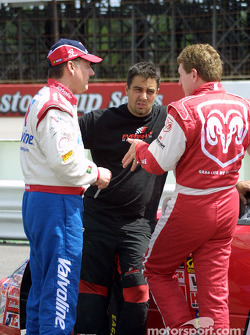 Johnny Benson and Bill Elliott discuss the track