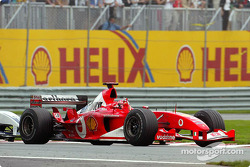 Race winner Michael Schumacher