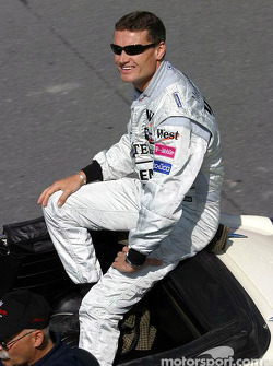 Drivers parade: David Coulthard