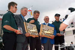 Pole Award to #7 Team Bentley Bentley Speed 8: Tom Kristensen, Rinaldo Capello, Guy Smith