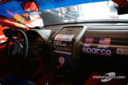 The cockpit of the Team Lexus GrandAm Cup #2