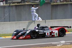 #9 Kondo Racing Dome S101 Mugen: Ukyo Katayama, Masahiko Kondo, Ryo Fukuda heads to the starting grid