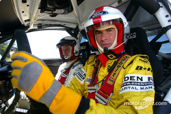 Ralph Firman and co-driver Michael Park in the Ford Focus RS WRC car