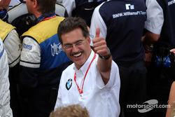 Dr Mario Theissen celebrates BMW one-two punch