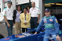 Heinz-Harald Frentzen, Peter Sauber, Nick Heidfeld and guests