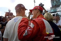 Ralf and Michael Schumacher after the press conference