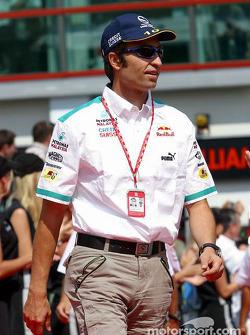 Drivers parade: Heinz-Harald Frentzen