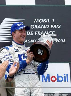 The podium: race winner Ralf Schumacher