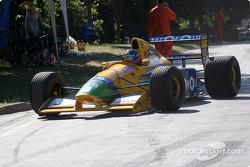 Paul Osborn in 1991 Benetton-Cosworth B191
