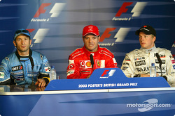 Press conference: pole winner Rubens Barrichello, Jarno Trulli and Kimi Raikkonen