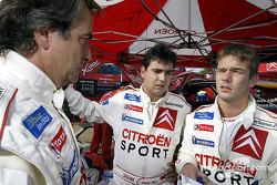 Carlos Sainz, Daniel Elena and Sébastien Loeb