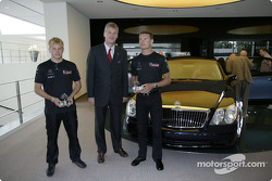 Kimi Raikkonen and David Coulthard visit Maybach Centre of Excellence in Sindelfingen