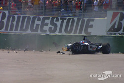Kimi Raikkonen after the first corner crash