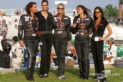 The spectacular Hazardous girls wait for the podium ceremony