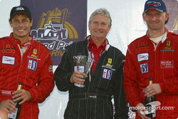 GT podium: best private team for #35 Risi Competizione Ferrari 360 Modena of Anthony Lazzaro, Ralf Kelleners