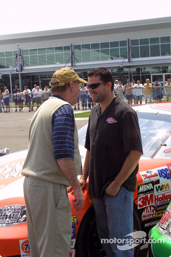 Jim Hunter and Tony Stewart