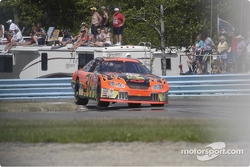 #31 Robby Gordon skips the curbs