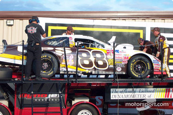 Post-race dyno check for Dale Jarrett's car