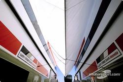 BAR-Honda paddock area