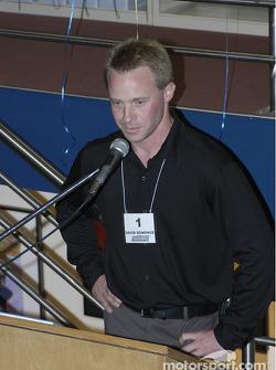 David Donohue talks at the IMRRC auction