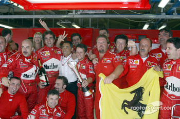 Team Ferrari celebrates