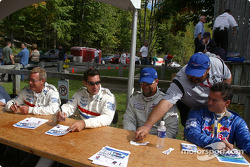 Drivers autograph session: Hurley Haywood, Max Papis, J.C. France and Sascha Maassen
