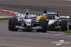 Juan Pablo Montoya and David Coulthard