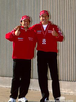 Toyota photo shoot: Cristiano da Matta and Olivier Panis