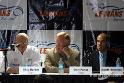 ALMS press conference: Skip Barber, Don Panoz and Scott Atherton