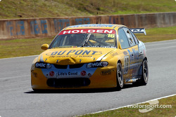 Paul Weel sporting damage to the Team Brock Commodore