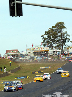 Mark Larkham and co. on pit straight