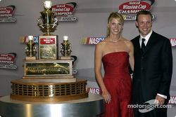 Matt and Katie Kenseth pose with the prize