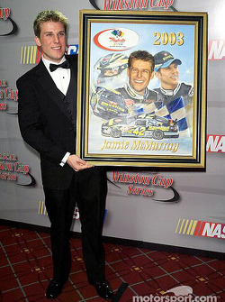 Rookie of the year award to Jamie McMurray