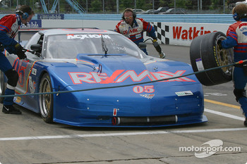 Pitstop for #05 Team Re/Max Corvette: Rick Carelli, Davy Liniger, John Metcalf