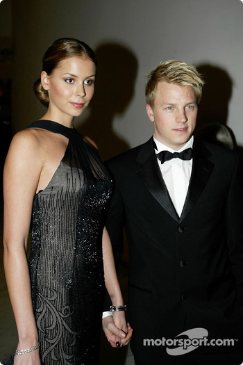 Kimi Raikkonen with his girlfriend