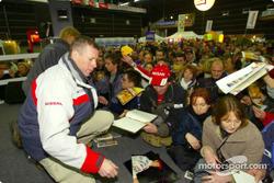 Autograph session for Ari Vatanen and Juha Repo