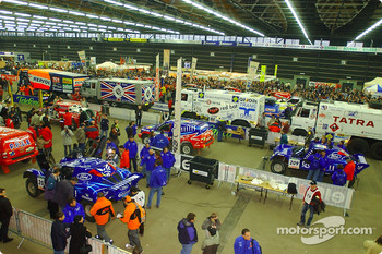 Overall view of the scrutineering hall in Clermont-Ferrand