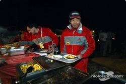 Hiroshi Masuoka enjoys dinner