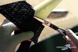 Composites - Cutting of the carbon-fibre