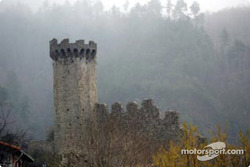 An ancient castle in the town of Lucéram