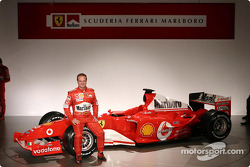 Rubens Barrichello with the new Ferrari F2004
