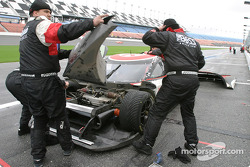 #4 Howard - Boss Motorsports Chevrolet Crawford: Butch Leitzinger, Elliott Forbes-Robinson, David Brule, Jimmie Johnson in the pit