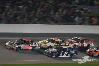 Kevin Harvick leads Rusty Wallace and Dale Jarrett