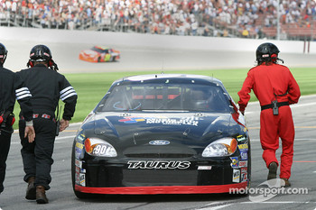 Andy Hillenburg on pit road