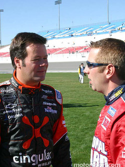 NEXTEL photoshoot: Robby Gordon and Greg Biffle