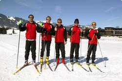 Fit for the sportscar season: Emanuele Pirro, Frank Biela, Tom Kristensen, Pierre Kaffer and Rinaldo Capello