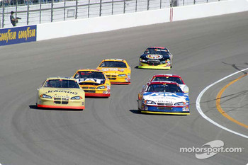 Kyle Petty races Ken Schrader