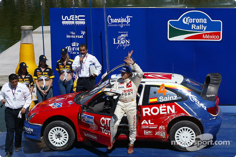 Podium: Carlos Sainz and Marc Marti
