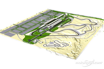 Rendering of the track